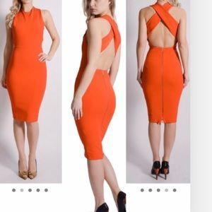 Orange Victoria Beckham Dress
